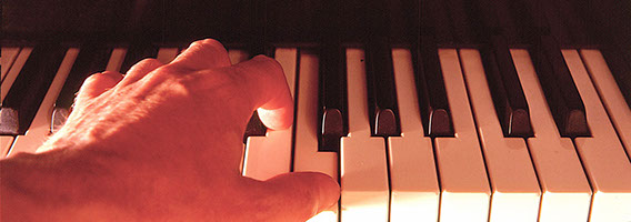 Pianist Andy Ostwald: Contact Header Image